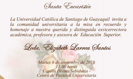 Santa Eucaristía – Lcda. Elizabeth Larrea Santos