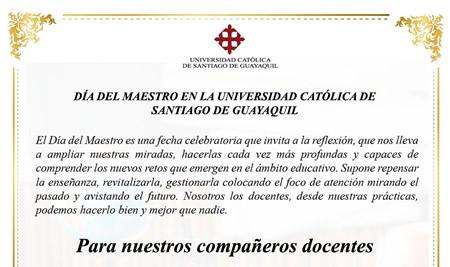 Día del Maestro en la UCSG
