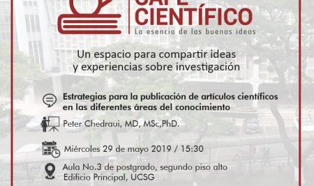 Café Científico del PhD. Peter Chedraui