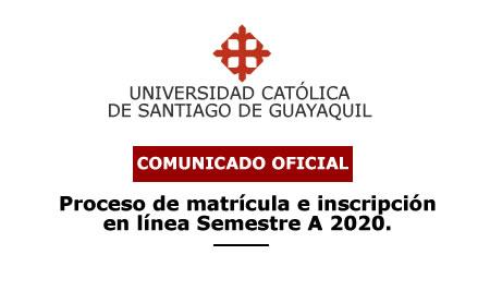 Matriculación e Inscripción A-2020