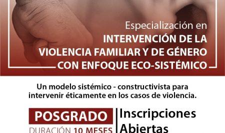 Especialización en Intervención de la Violencia Familiar