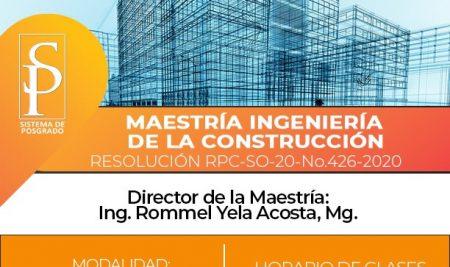 Maestría Ingeniería en Construcción